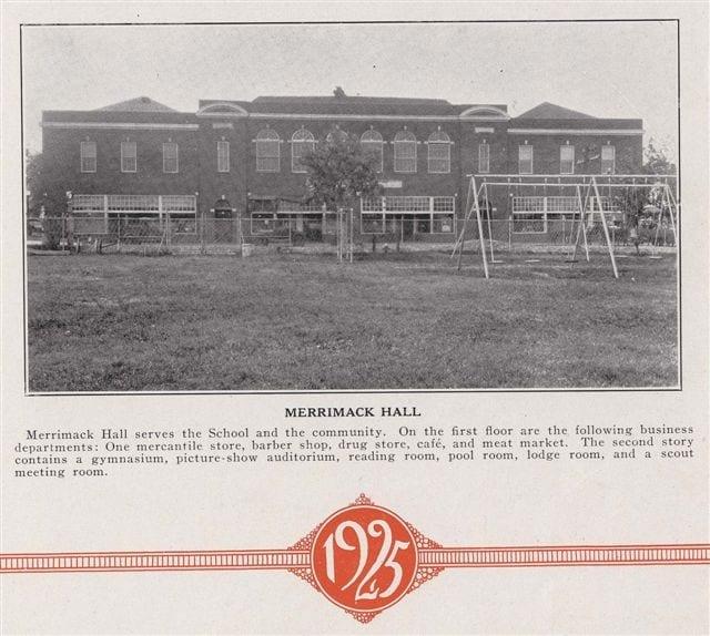 Bradleyean Year 1925 book Merrimack Hall